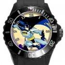 Batman Cartoon Plastic Sport Watch In Black