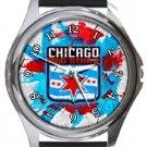 Chicago Red Stars Round Metal Watch