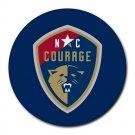 North Carolina Courage Heat-Resistant Round Mousepad