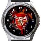 Arsenal FC Round Metal Watch