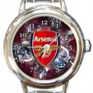 Arsenal Round Italian Charm Watch