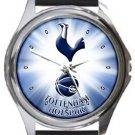 Tottenham Hotspur FC Round Metal Watch