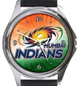 Mumbai Indians Cricket Club Round Metal Watch