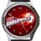 New Delhi Daredevils Cricket Club Round Metal Watch