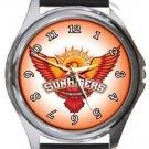 Hyderabad Sunrisers Cricket Club Round Metal Watch
