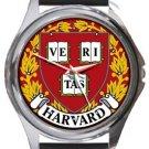 Harvard University Round Metal Watch