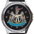 Newcastle United Football Club Round Metal Watch