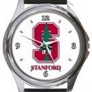 Stanford University Logo Round Metal Watch