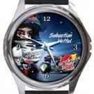 Sebastian Vettel Round Metal Watch