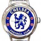Chelsea FC Round Italian Charm Watch