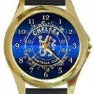 Unique Chelsea FC Gold Metal Watch