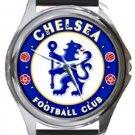 Chelsea FC Round Metal Watch