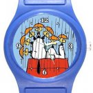 Snoopy I Cover You When It Rains Blue Plastic Watch