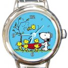 Snoopy I Got You Round Italian Charm Watch