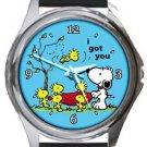 Snoopy I Got You Round Metal Watch