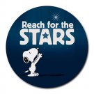 Snoopy Reach For The Stars Heat-Resistant Round Mousepad