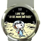Snoopy I Love You To The Moon And Back Money Clip Watch