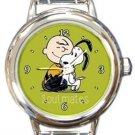 Snoopy Soulmates Round Italian Charm Watch