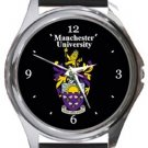 Manchester University Round Metal Watch