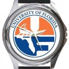 University of Florida Round Metal Watch