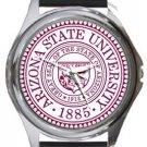 Arizona State University Round Metal Watch