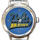 UCLA Bruins Round Italian Charm Watch