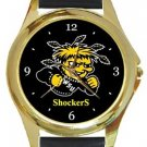 Wichita State Shockers Gold Metal Watch
