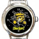 Wichita State Shockers Round Italian Charm Watch