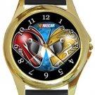 Nascar Racing Gold Metal Watch