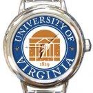 The University of Virginia Logo Round Italian Charm Watch