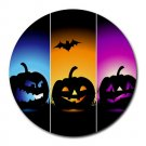 Halloween Scary Pumpkins Heat-Resistant Round Mousepad