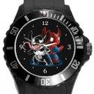 Stitch as Spiderman Plastic Sport Watch In Black