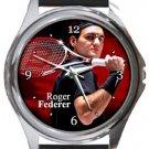 Roger Federer Round Metal Watch