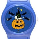 Snoopy Sleeping on Halloween Blue Plastic Watch