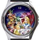 Alice in Wonderland Round Metal Watch