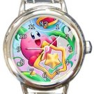 Cute Kirby Round Italian Charm Watch