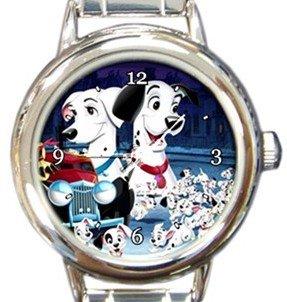 Cute 101 Dalmatians Round Italian Charm Watch