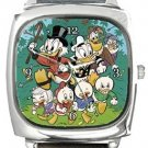 Duck Tales Square Metal Watch