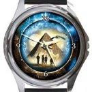 Stargate Round Metal Watch