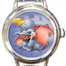 Cute Dumbo Round Italian Charm Watch