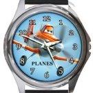 Planes Round Metal Watch