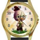Funny Chicken Little Gold Metal Watch