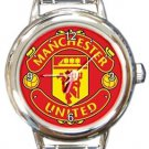 Manchester United Round Italian Charm Watch