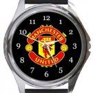 Manchester United FC Round Metal Watch