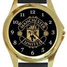 Manchester United Football Club Gold Metal Watch