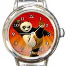 Kung Fu Panda Round Italian Charm Watch