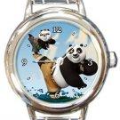 Funny Kung Fu Panda Round Italian Charm Watch