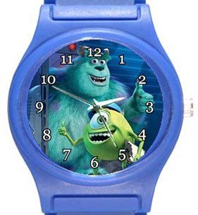 Monsters Incorporated Blue Plastic Watch
