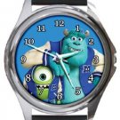 Monsters Inc University Round Metal Watch