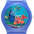 Cute Finding Nemo and Dory Blue Plastic Watch